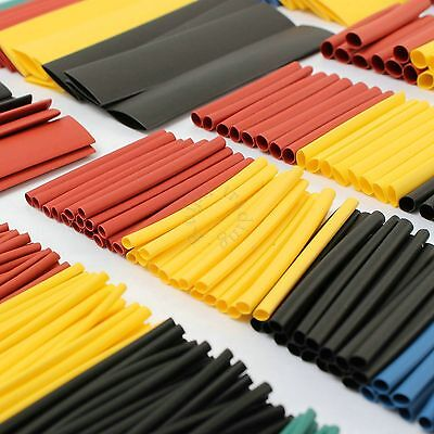 70Pcs Heat Shrink Tubing 2:1 Tube Wrap Electrical Cable Sleeve 1-6mm 5 Sizes