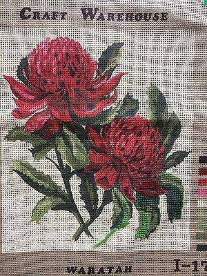 """""""Waratah"""" -- Vintage Tapestry Canvas by Craft Warehouse Australia - Unfinished"""