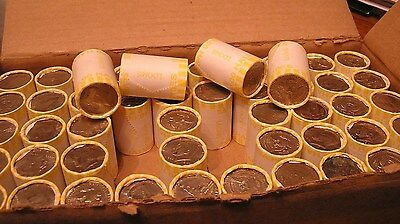 One Unsearched Kennedy Half Dollar Roll - POSSIBLE 40% 90% Silver Coins