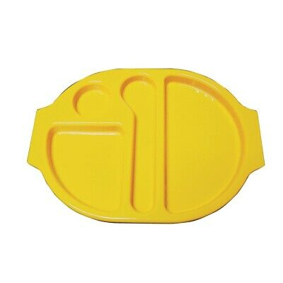 Kristallon (Pack of 10) Plastic Food Compartment Tray Yellow Large BARGAIN