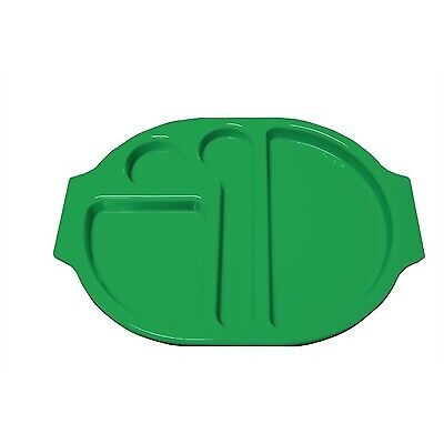 Kristallon (Pack of 10) Plastic Food Compartment Tray Green Large BARGAIN