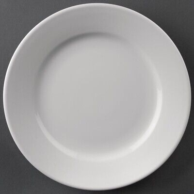Athena Hotelware (Pack of 12) Wide Rimmed Plates 165mm BARGAIN