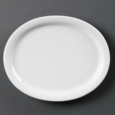 Olympia (Pack of 6) Whiteware Oval Platters 200mm BARGAIN