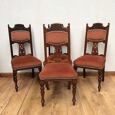 Four Edwardian Mahogany Dining Chairs