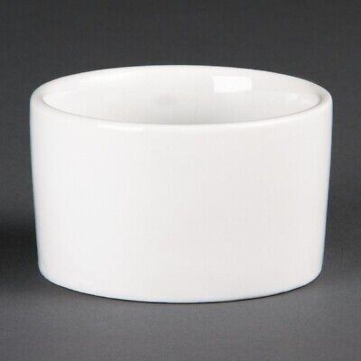Olympia (Pack of 12) Whiteware Contemporary Ramekins 90mm BARGAIN