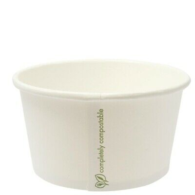 Vegware (Pack of 500) Compostable Soup Container 350ml BARGAIN