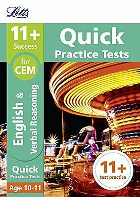 11+ English and Verbal Reasoning Quick Practice  by Letts 11+ New Paperback Book