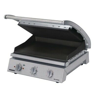Commercial Roband Grill Station Ribbed Hot Plate Hotplate Griller Gsa810Rt