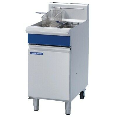 Commercial Blue Seal Twin Pan Natural Gas Deep Fryer Frying Machine Seafood