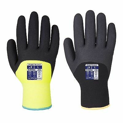 Portwest Arctic Winter Thermal Lined Cold Working Gloves Nitrile Sandy A146