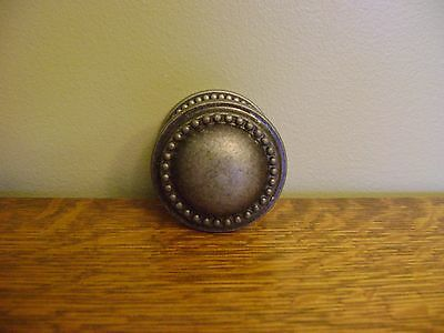 Cast Iron Door Knob Decorative Hook Picture Hanger Antique Silver ~ NEW IN BOX