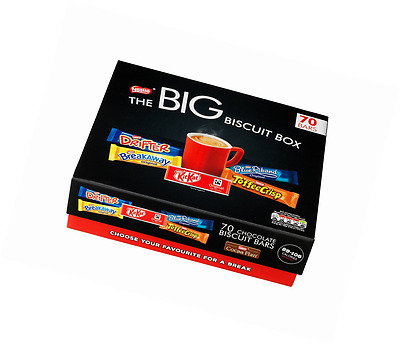 NESTLE The Big Biscuit Box 70 Chocolate Biscuit Bars Assorted Catering Events
