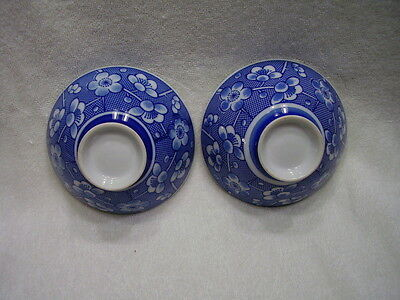Estate Fine Antique Chinese Blue and White Porcelain Rice Bowls     A#4