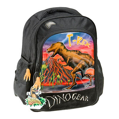 Dinosaur Backpack Black Kids School Bag Tyrannosaurus Rex Bag For School