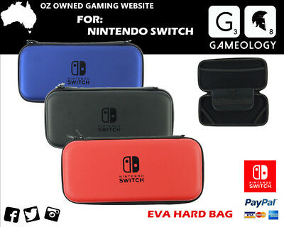 EVA Hard Carrying Carry Case Travel Bag Nintendo Switch+Nuglas Screen Protector