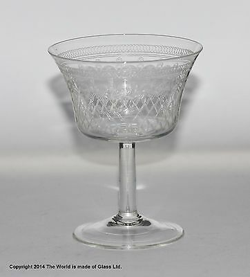 Etched Champagne Saucer Glass Uk