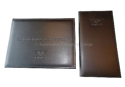 2014 Bentley Continental Gt Convertible Bordmappe Pouch Owners Manual Handbook