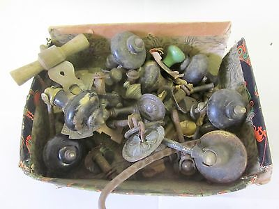 Box Antique Assorted Old Hardware  Furniture Drawer Pulls and Others