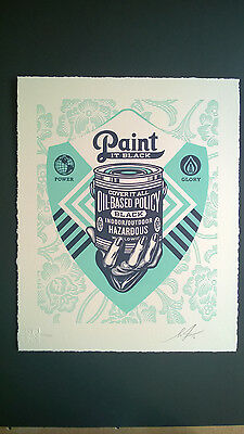 "Shepard Fairey "" Paint It Black Letterpress"" 2016"
