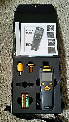 General Tools PCT900 Mini Photo Contact/Non-Contact Tachometer with Case