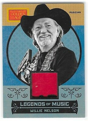 2014 Panini Golden Age Legends Of Music Willie Nelson Relic Card #lm-8