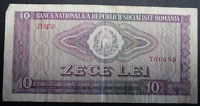 National Bank of Romania 10 Lei 1966 banknote