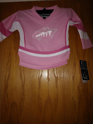 Brand New With Tags Minnesota Wild Reebok Toddler Jersey, Size 24 M
