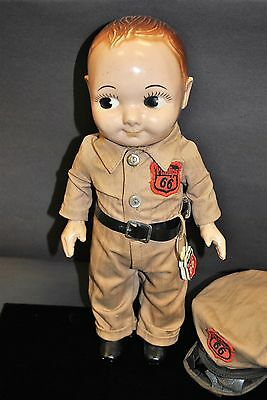 Vintage 1950's Phillips 66 Service Station Buddy Lee Doll with Station Tag