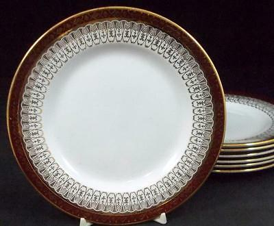 Royal Grafton MAJESTIC MAROON 7 Bread & Butter Plates GOOD CONDITION