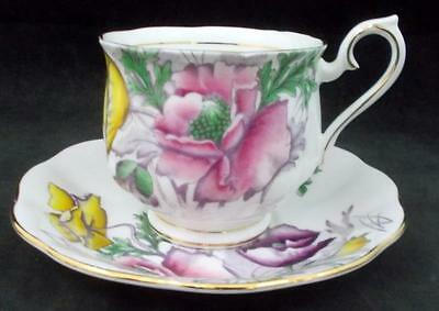 "Royal Albert FLOWER OF THE MONTH Cup & Saucer ""Poppy"" August GREAT CONDITION"