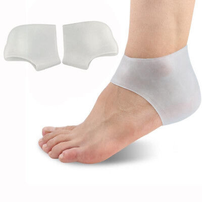 1 Pair Soft Silicone Gel Heel Protector Cushion Pad Plantar Pain Relief Unisex