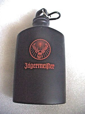 Jagermeister Black Aluminum  17 oz Canteen/Flask with clip....New