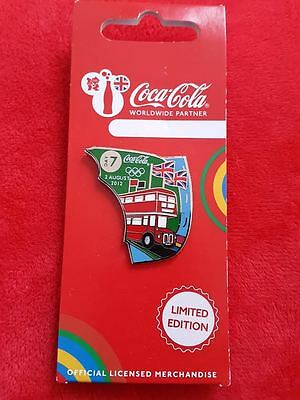 Olympics 2012 Pins Coca Cola London 2012  Day 7 - Double Decker Bus £2.49