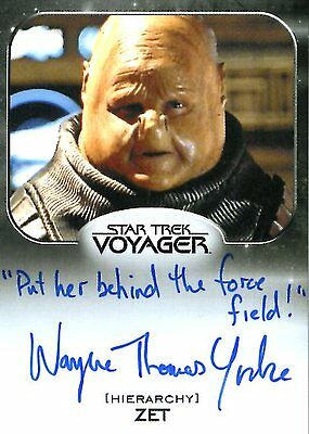 Star Trek 50th Ann. ALIENS AUTOGRAPH card WAYNE THOMAS YORKE - Put QUOTE VARIANT