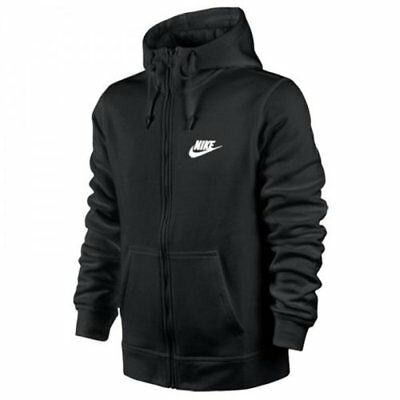 Nike Herren Sport Freizeit Sweatjacke NSW Zip Club Sweat Hoodie 804389 Schwarz