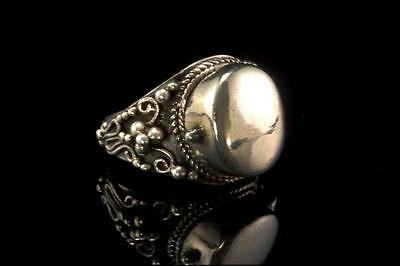 Antique Victorian Sterling Silver Locket Poison Ring D57-14