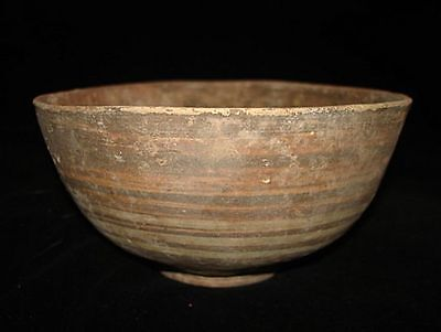 GREAT ONE!  ANCIENT PAINTED BOWL!  EARLY BRONZE AGE~3000BC    ANCIENT archaeolgy