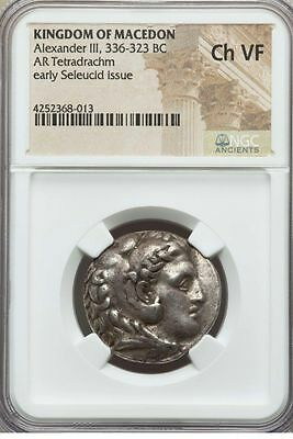 Alexander the Great III Tetradrachm Coin 336-323 BC Certified NGC CH VF - Rare!