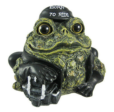 Toad Hollow Biker Frog Statue Born To Ride Motorcycle