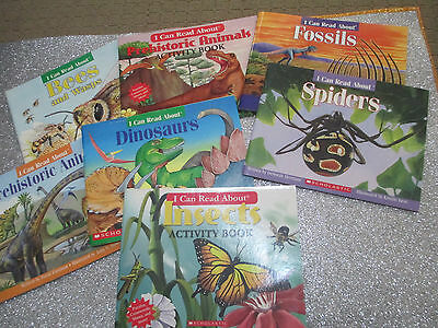 I CAN READ ABOUT...Children's Non Fiction SCIENCE Books x 7 DINOSAURS, BUGS +