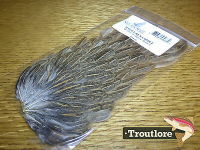 Nature's Spirit Natural Brown Speckled Hen Saddle New Fly Tying Feathers Capes