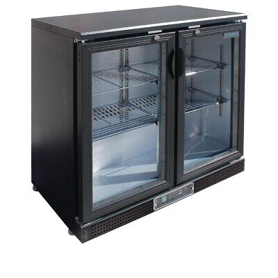 Commercial Polar Double Hinge Two 2 Glass Door Back Bar Cooler Fridge Chiller