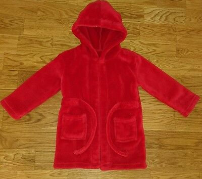 Lovely Soft Red Boys Girls Warm Cosy Dressing Gown 18-24 Months/1.5-2 Years VGC