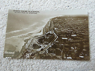 Vintage c1950s Blackpool North Shore Aerial Real Photo Postcard