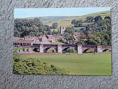 Vintage c1970s Burnsall Village, River and Bridge Real Photo Postcard