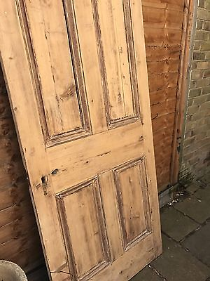 Lovely Reclaimed Victorian Stripped 4 Panel Door 80cm X 195cm.