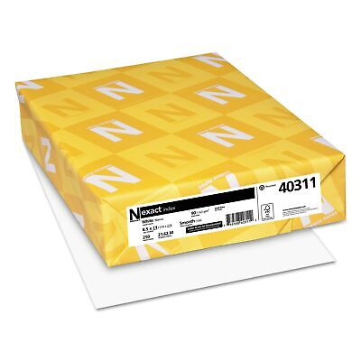 "Neenah Paper Exact Index Card Stock 8.5"" x 11"" White 250 Sheets"