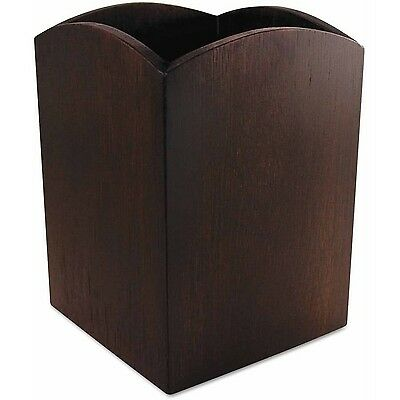 """Artistic Bamboo Curved Pencil Cup 3"""" x 3"""" x 4-1/4 Espresso Brown"""