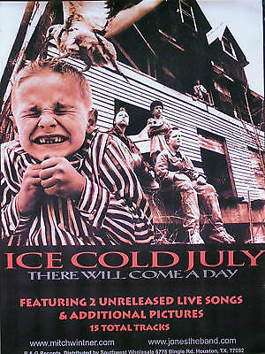 Ice Cold July 2000 There Will Come A Day Original Promo Poster