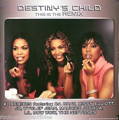 Destiny's Child 2002 This Is The Remix Original Promo Poster